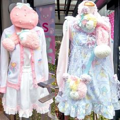 """""""Cute pastel fashion outside of the Nile Perch boutique on Cat Street in Harajuku. @nileperch_official"""""""