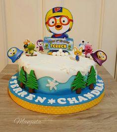 Pororo Birthday cake Cars Theme Cake, Car Themes, 2nd Birthday Party Themes, Birthday Ideas, Birthday Cake, Flower Recipe, Flower Food, Buttercream Flowers, Cream Cake