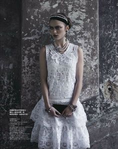 Sophie Vlaming by Pasquale Abbattista for Elle Taiwan April 2012 as 'Gentle Temptations'