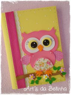 m 225 s de 25 ideas incre 237 bles sobre carpetas decoradas en Kids Crafts, Owl Crafts, Diy And Crafts, Arts And Crafts, Paper Crafts, General Crafts, Paper Piecing, Projects To Try, Card Making
