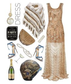 """""""The Great Gatsby Party"""" by na-pan on Polyvore featuring Mode, Gatsby, Christian Dior, Amrita Singh, Wilsons Leather, Alexandre Birman, Effy Jewelry, Crate and Barrel und partydress"""
