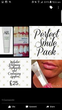 Check out the perfect smile pack!!! contouring lipgloss and the whitening toothpaste..........FB: HM Cosmetic & Anti Ageing Products  Email : helenamonaher@gmail.com  instraram; hmbeauty90  Snapchat: hmbeauty90