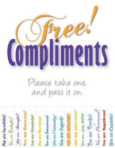 Give a compliment on National Compliment Day - eUKhost Official Web Hosting Forum Teacher Morale, Employee Morale, Staff Morale, 365 Jar, Employee Appreciation Gifts, Volunteer Appreciation, Staff Motivation, Morale Boosters, Employee Recognition
