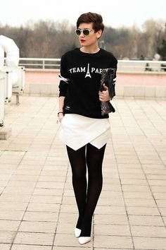 Zara White Skort, Zara White Court Shoes | You Are Always With Me (by Frickys S) | LOOKBOOK.nu