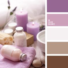 Shades of purple-pink wrap tenderness and comfort. Contrasts beautifully with the natural tones of brown and milky. This color can relax surrounded by full. Excellent solution for interior bathroom, bedroom. It is also ideal for home textiles.