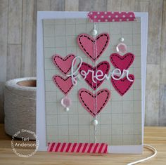 Card by PS DT Teri Anderson using the PS Sweet Hearts stamp set