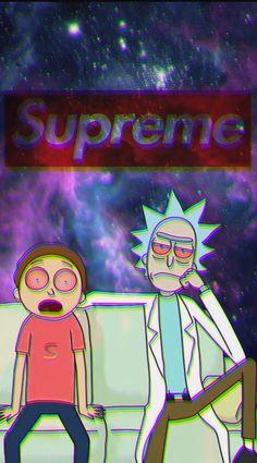 Supreme Iphone X Wallpaper Supreme Rick Wallpaper In 2019 Rick Morty Supreme