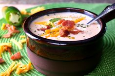 Jalapeno Popper Soup is creamy, spicy, comfort food deliciousness that can be on your table in about 30 minutes. Jalapeno Popper Soup Recipe, Jalapeno Poppers, Thm Recipes, Side Recipes, Cooking Recipes, Chili Recipes, Crockpot Recipes, Recipies, Easy Crockpot Soup