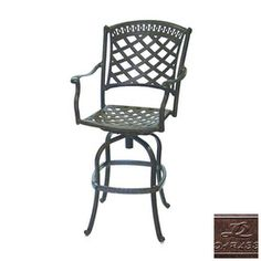 New Bar Height Swivel Patio Chairs