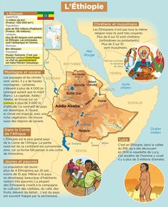 L'Éthiopie Medical Mnemonics, French Class, French Words, French Language, Ethiopia, How To Memorize Things, Africa, Education, Learning