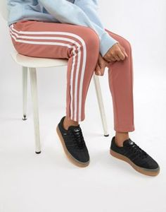 ae0b58a8a adidas Originals Samba Rose Sneakers In Black With Gum Sole