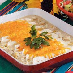Chicken+Enchiladas= Delicious. I think these would be easy to make for a quick no fuss dinner.