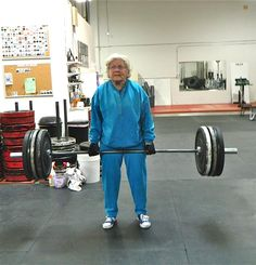 82 years young, Jean nails a new deadlift 1RM PR @ 153lbs.  So, now...what's your excuse?  I hope my future is as bright as this!