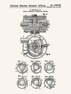 Rotary Internal Combustion Engine - F. Wankel - 1961