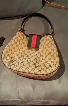 Gucci Web Medium Hobo Bag. Hobo bags are hot this season! The Gucci Web Medium Hobo Bag is a top 10 member favorite on Tradesy. Get yours before they're sold out!