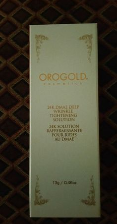 Oro Gold 24K DMAE DEEP WRINKLE TIGHTENING SOLUTION #OroGold