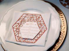 Modern Geometric Marsala Wedding Inspiration by Siegrid Cain | see tis beautiful shoot in full on www.onefabday.com