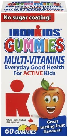 IronKids Gummies Multi-Vitamins for Active Kids $9.99 - from Well.ca