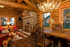 living room in a rustic style