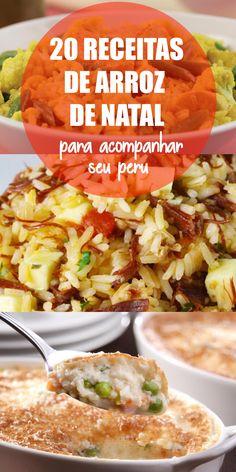 20 receitas de arroz de Natal para acompanhar o peru na Ceia Reunimos 20 receitas de arroz de dar água na boca para todos os gostos