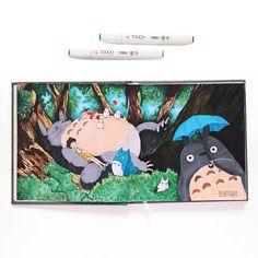 """Did you watched animated film """"My Neighbor Totoro""""? Did you like it? 😏 🍃🍃🍃🍃🍃🍃🍃🍃🍃🍃🍃🍃🍃🍃  Я не смотрела этот анимэ. Один раз (давнооо уже) была попытка, но ещё вначале выключила. Сейчас хочу посмотреть его 😌   Кто смотрел """"Мой сосед Тоторо""""? Как вам? 😏  __________________________________________    Завтра выложу обзор этого скетчбука от @just_do_sketch 😉  ⠀⠀⠀⠀⠀⠀⠀⠀⠀⠀⠀⠀⠀⠀⠀⠀⠀⠀⠀⠀⠀⠀  #art_buntarke"""