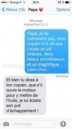 Voici 10 Des Plus Drôles Echanges de Textos Entre Pères et Filles ! Here are 10 of the funniest text exchanges between fathers and daughters! Lol, Funny Texts, Funny Jokes, Funny Images, Funny Pictures, English Jokes, Post Quotes, I Laughed, Decir No