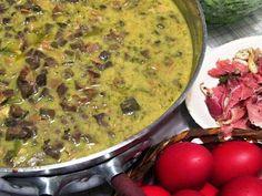 Μαγειριτσα Ρωμαιικη, παραδοσιακή  για την Λαμπρη