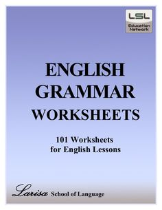 Free PDF download English grammar worksheets contains 101 worksheets.  The alphabet, numbers, tenses, conjunctions, verbs, adverbs, modal verbs, questions word…