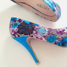 Fabulous Leuven Alexander Pointy Heels Gorgeous aqua blue multi-color pumps by Leuven Alexander. So chic and unique! Very gently and lightly worn once. Excellent condition, kept in original box. Make it a bundle and save 10% off your purchase of 3 or more items from my closet! Shoes