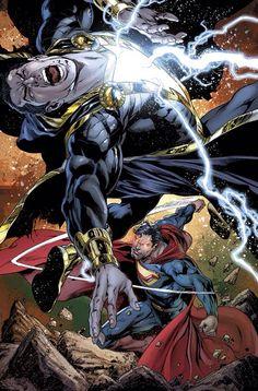 Ultraman of the Crime Syndicate of Amerika vs Black Adam | #comics #dc #ultraman #blackadam #shazam