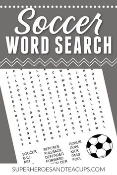 Learn vocabulary related to soccer with this soccer word search free printable. It includes 15 words common to the sport. Sports Activities For Kids, Educational Activities, Learning Activities, Fun Printables For Kids, Free Printables, Free Printable Word Searches, Book Lists, Kids And Parenting, Vocabulary