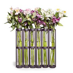 Tall Metal Hinged 6-glass Vial Vase - Overstock™ Shopping - Great Deals on Danya B Vases