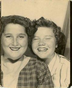 "Vintage Photo Booth Photo ""Fun Times"", Photography, Paper Ephemera, Snapshot, Old Photo, Collectibles - 0100"