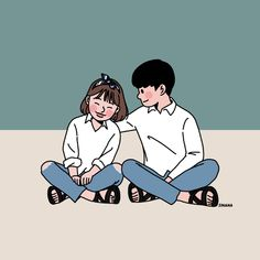 This is Sinana Illustrator based on fashion illustration. Love Cartoon Couple, Cute Couple Comics, Cute Couple Art, Anime Love Couple, Cute Anime Couples, Cute Couple Drawings, Anime Couples Drawings, Cute Drawings, Dope Cartoon Art