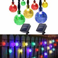 Backyard Solar Lights, Solar Led String Lights, Backyard Lighting, String Lights Outdoor, Outdoor Lighting, Light String, Drop Lights, Color Switch, Fall Preschool