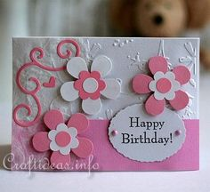 "Free+Handmade+Card+Ideas | Cards for Spring - Birthday Card - ""Friendship Card with Flowers"""
