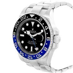 17231 Rolex GMT Master II Batman Blue Black Bezel Mens Watch 116710 Box Card SwissWatchExpo