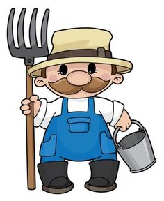 arn in papa s farm a chubby farmer man vector cartoon in a work rh pinterest com farm clip art for kids farm clip art free images