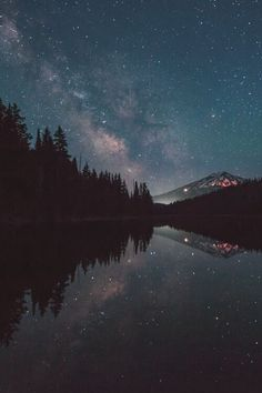 Stary night reflection