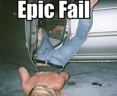Drunk girl Fail