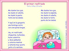 """Me encanta escribir en español: Poema: """"Mi primer resfriado"""" de Celia Viñas Olivella"""