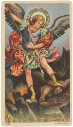 Michael the Archangel, Feast date September 29 St. Michael Tattoo, Archangel Michael Tattoo, Angel Pictures, Jesus Pictures, Catholic Art, Religious Art, Michael And Lucifer, Crying Angel, Good Friday Images