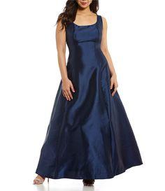 3085d0567e5 B Darlin Plus Scoop Neckline Ball Gown  Dillards Military Ball