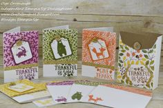Stampin'Up Thankful Forest Friends Note Card Gift Set