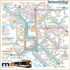 Mannheim transport map