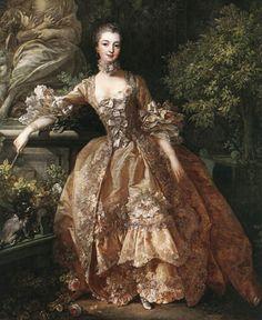 1759. Boucher. Retrato de la marquesa de Pompadour