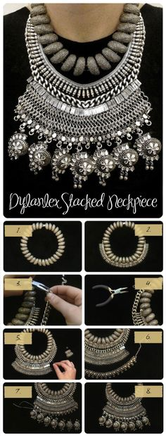 Best DIY Tutorials - DIY Dylanlex Stacked Necklace  IS IT ME ??  (A OLD LADY ) I JUST DONT LIKE THIS , MAYBE JUST 2 CHAINS. TO MUCH HEAVY METAL FOR ME BUT WHAT DO I KNOW !!!