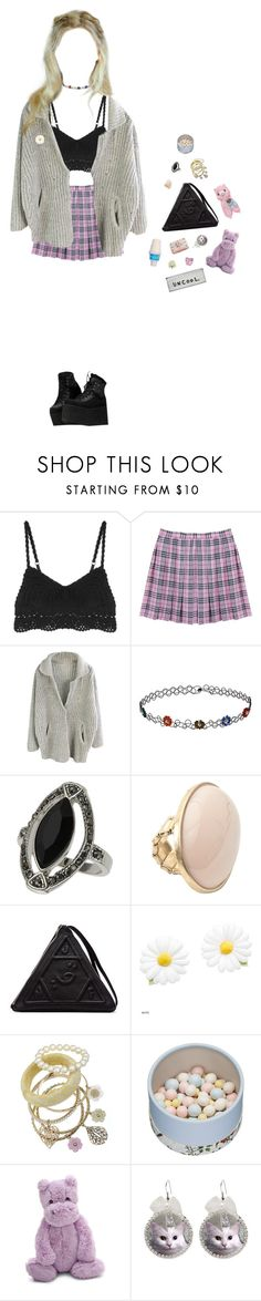 """we are fated to pretend"" by queenofrocknroll ❤ liked on Polyvore featuring Alice + Olivia, Topshop, UNIF, Miss Selfridge, Paul & Joe Beaute, Jellycat and LIST"