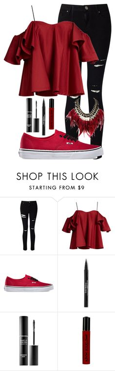 """dance like Uma Thurman"" by lorraine246 ❤ liked on Polyvore featuring Miss Selfridge, Anna October, Vans, Trish McEvoy, MAKE UP FOR EVER, NYX and WithChic"