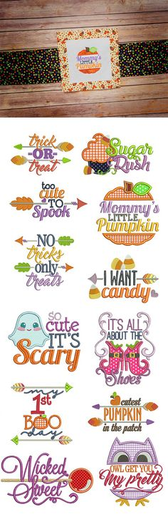 Halloween Word Art design set is available for instant download atdesignsbyjuju.com